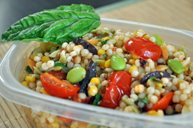 Israeli Couscous Salad With Roasted Cherry Tomatoes Recipe ...