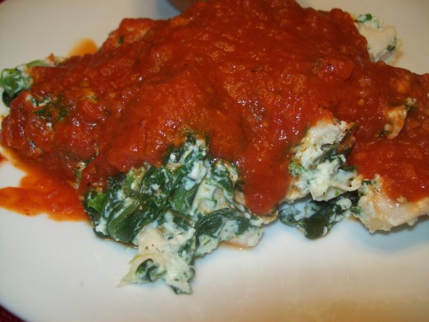 Baked Chicken Parmesan With Ricotta And Spinach Recipe — Dishmaps