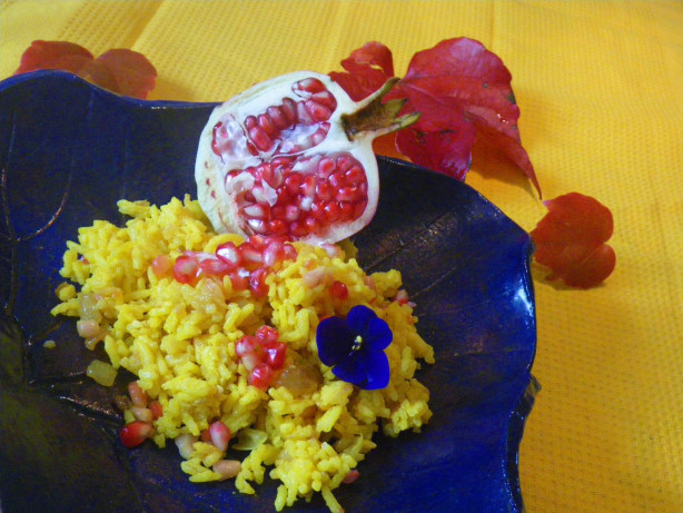 Yellow Rice Pilaf Pomegranate Recipe - Food.com