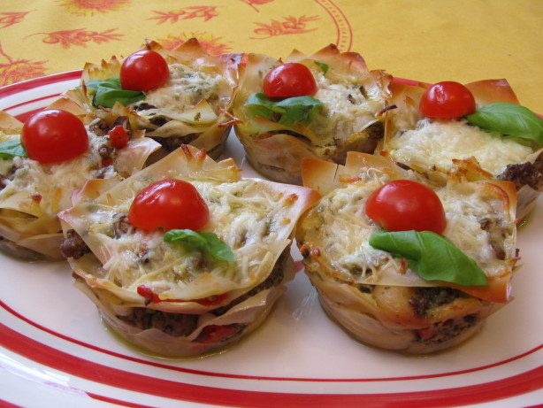 Lasagna Cupcakes With Pesto Recipe - Food.com