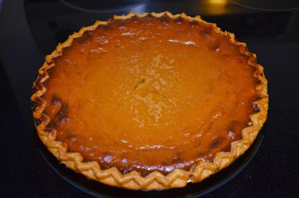 Bambys Fresh Home Made Pumpkin Pie Recipe