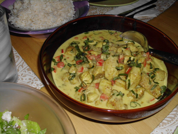 Thai Basil Chicken In Coconut-Curry Sauce Recipe - Food.com