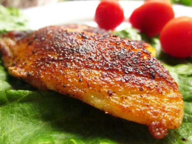 Pan fried blackened fish recipe for Pan fried fish fillet recipes