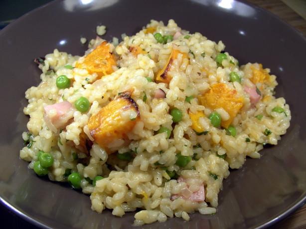 Ham pumpkin and pea risotto recipe for Ham risotto recipe