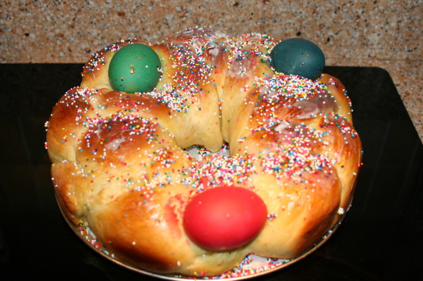 Tsoureki - Greek Easter Bread Bread Machine Recipe) Recipe - Food.com