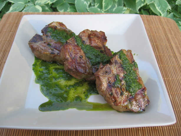 Lamb Chops With Cilantro-Mint Chimichurri Recipe - Food.com