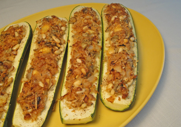 Stuffed Zucchini With Cheesy Breadcrumbs RecipeFood.com