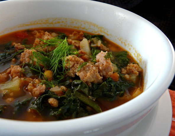 Turkey Italian Sausage And Greens Soup Recipe - Food.com