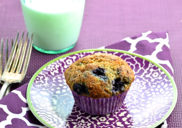 how to make low fat blueberry muffins