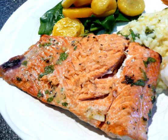 Grilled Salmon With Kiwi-Herb Marinade Recipe - Food.com