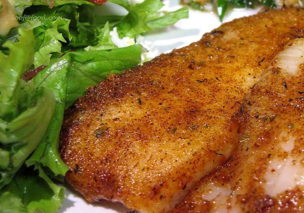 Pan fried seasoned tilapia recipe for Fish seasoning recipe