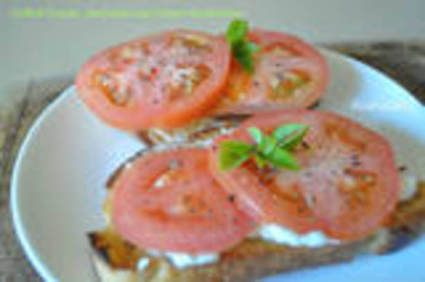 Grilled Tomato, Basil, And Goat Cheese Sandwiches Recipe - Food.com