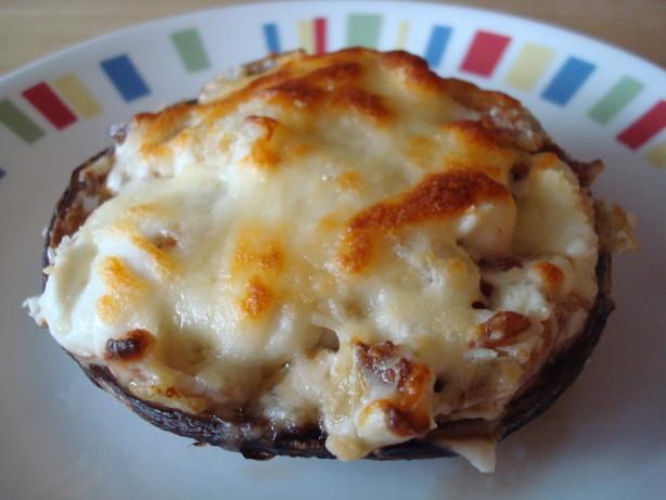 Bacon And Cheese Stuffed Portobello Mushrooms Recipe - Food.com