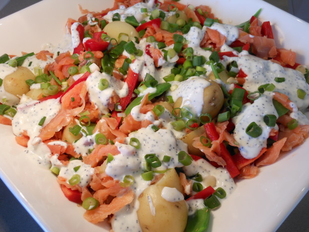 Salmon And Potato Salad With Lemon Poppy Seed Dressing Recipe - Food ...