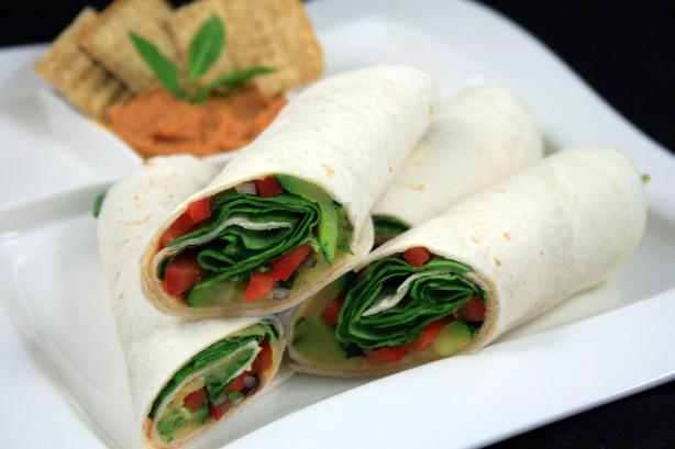 Hummus & Veggie Wraps