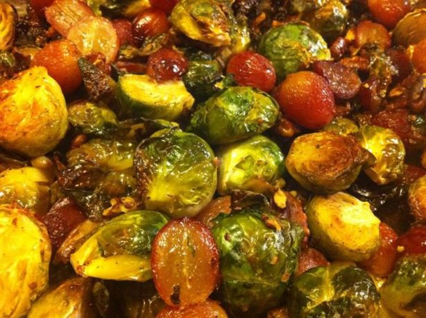 Roasted Brussels Sprouts With Grapes And Walnuts Recipe - Food.com