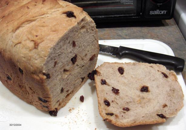 cinnamon raisin bread in bread machine