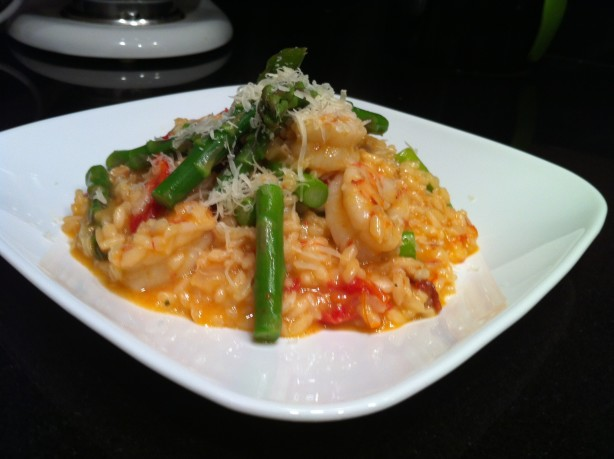 Shrimp And Sun-Dried Tomato Risotto With Asparagus Recipe - Food.com