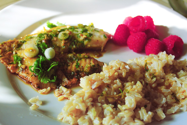 Ginger And Cilantro Baked Tilapia Recipe - Food.com