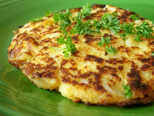 Cauliflower Cheese Patties Recipe Food Com