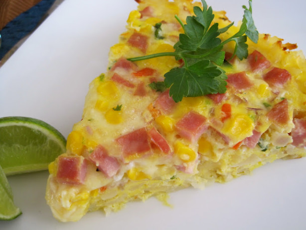 Fresh Corn Salsa Frittata With Hash Brown Crust Recipe - Food.com