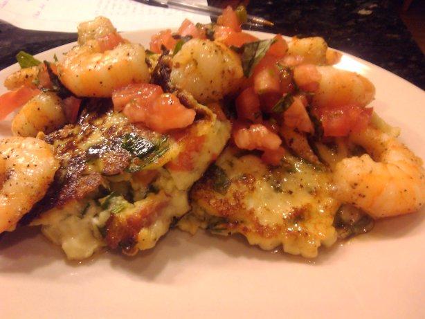 Spinach Artichoke Potato Cakes With Shrimp Scampi Recipe - Food.com