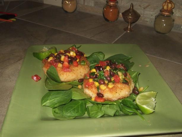 Shrimp Cakes With A Black Bean And Corn Salsa Recipe - Food.com