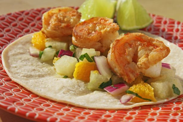 Tequila Lime Shrimp Tacos With Orange Jicama Salsa Recipe - Food.com