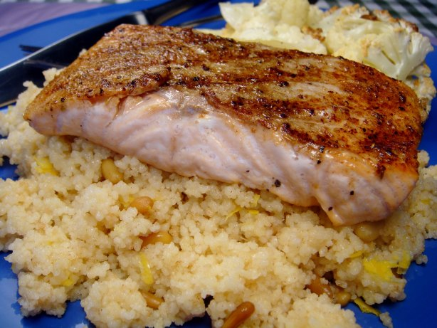 Grilled Salmon With Brown Butter Couscous Recipe - Food.com
