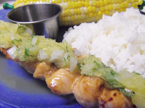 Maple-Glazed Chicken Kabobs With Sweet Jalapeno Salsa ...