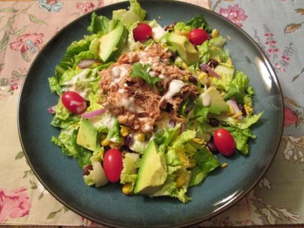 ... avocado salad dressing bbq chicken salad with creamy avocado dressing