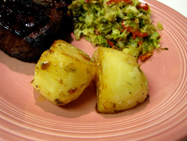 Fondant potatoes with garlic fondant de pommes de terre - Butter pomme de terre ...