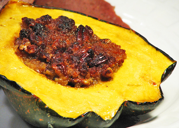 acorn squash with quinoa and red rice stuffing roasted acorn squash ...
