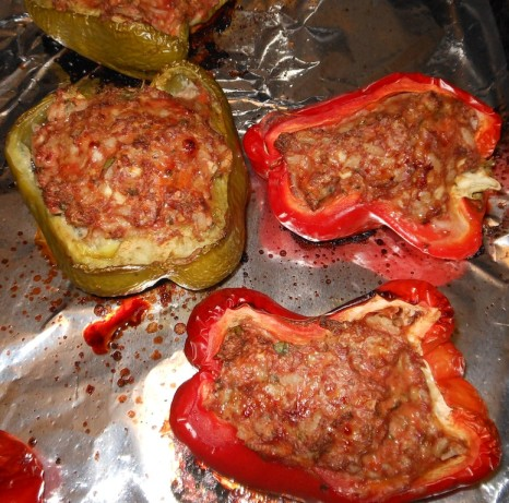 Ground Turkey Stuffed Peppers Recipe - Food.com