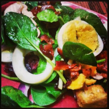 Spinach Salad With Warm Bacon Dressing Recipe - Food.com