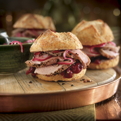 Roast Pork Tenderloin Sliders With Cranberry Sauce And ...
