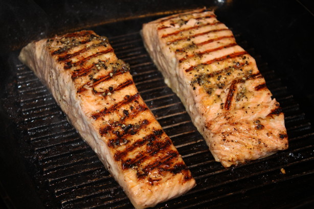 Simple and light grilled salmon with lime zest recipe for George foreman grill fish