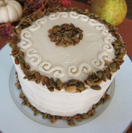 Vegan Pumpkin Spice Cake With Vanilla Maple Frosting And Spiced Recipe ...