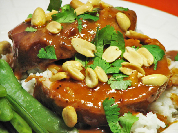 Pork Sirloin Roast With Thai Peanut Sauce Slow Cooker) Recipe - Food ...