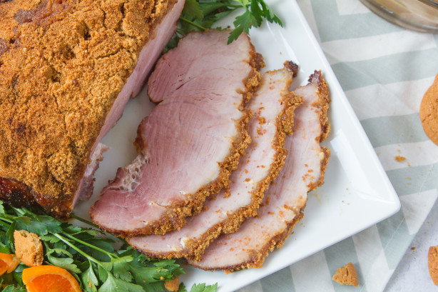 Ham Crusted With Mustard And Gingersnap Crumbs Recipe ...