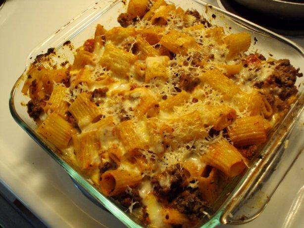 Baked Rigatoni With Beef Recipe - Food.com