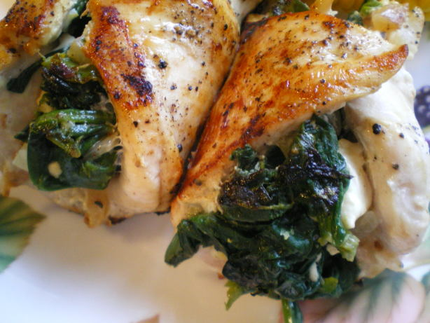 Spinach And Feta Stuffed Chicken Recipe - Greek.Food.com