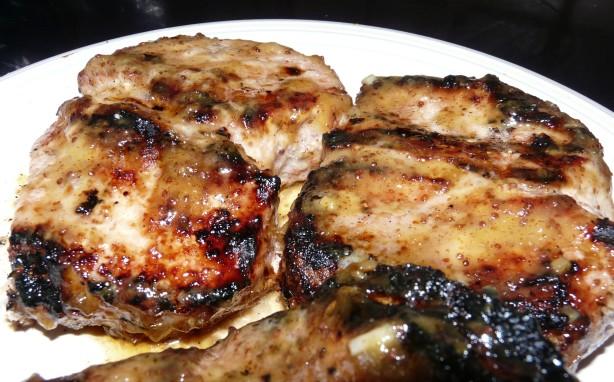 Peach Mustard Pork Chops Recipe - Food.com