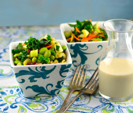 Raw Kale Salad With Tahini Dressing Recipe - Food.com