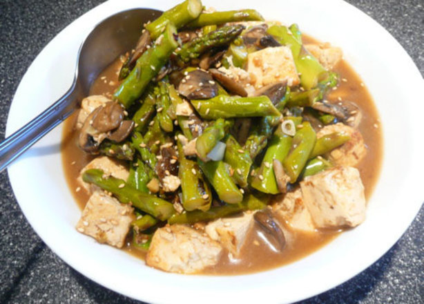 Sesame-Ginger Asparagus And Tofu Stir-Fry Recipe - Food.com