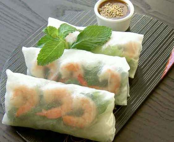 Pork And Shrimp Spring Roll With Peanut Sauce Recipe - Food.com