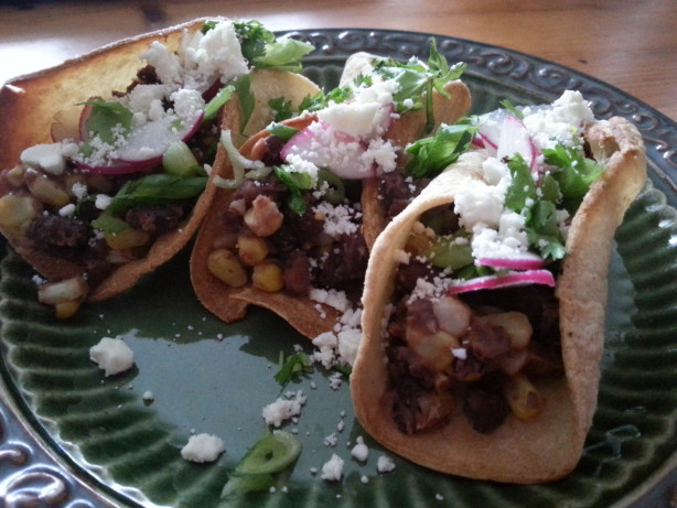 Black Bean And Corn Tacos With Radish Salsa And Feta Recipe - Food.com