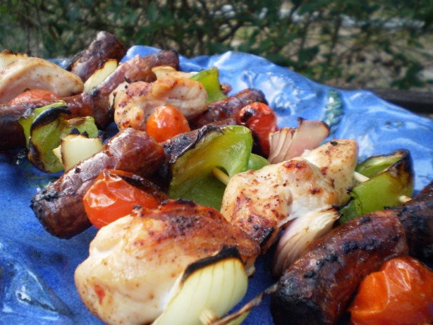 Andouille And Chicken Kabobs With Creole Mustard Recipe - Food.com