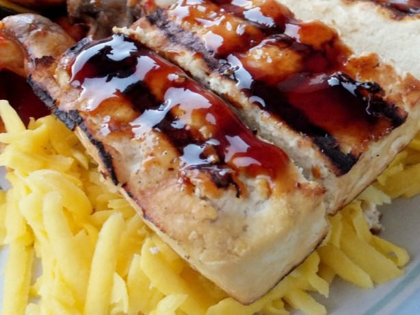 To hu ang swai chei grilled tofu with mango slaw recipe for Swai fish recipes food network