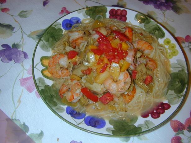 Pasta With Shrimp And Artichokes Recipe - Food.com
